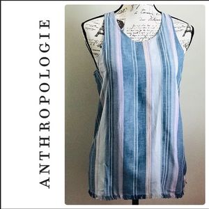 Drew Anthropologie Striped Top